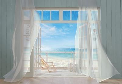 Fototapety Výhled na pláž v Malibu