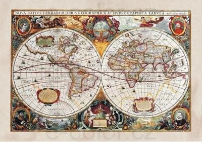 Fototapety Stará Mapa světa vlies