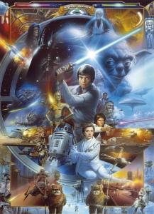 Fototapety Star Luke Skywalker koláž