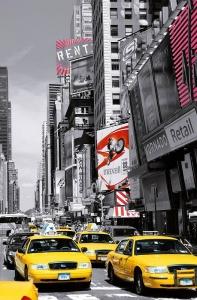 Fototapeta  Žluté taxi na Time Square