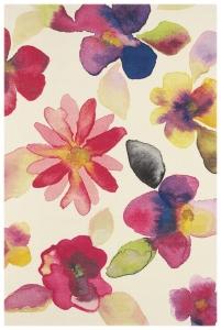 Vlněný koberec Kaleidoskop Květiny