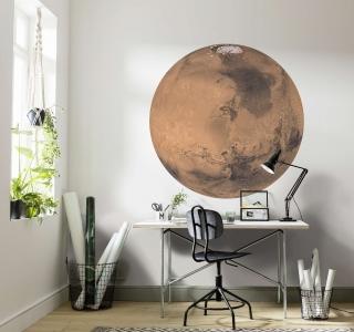 Samolepící fototapeta kruh - Planeta Mars