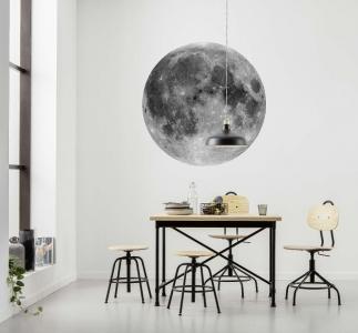 Samolepící fototapeta kruh - Planeta Měsíc
