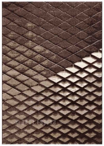 Moderní kusový koberec Arte Espina překládaný hnědý