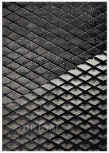 Moderní kusový koberec Arte Espina překládaný černá