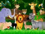 Dětská fototapeta Zvířátka v lese