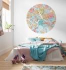 Samolepící fototapeta kruh - Disney Popelka a barevné snění