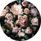 Samolepící fototapeta kruh - Mother Nature - Módní květiny