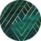 Samolepící fototapeta kruh - Bauhaus Nefrit