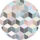 Samolepící fototapeta kruh - Bauhaus Pastel Deluxe