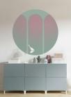 Samolepící fototapeta kruh - Bauhaus Tři dveře