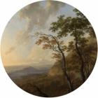 Samolepící fototapeta kruh - History of Arts - Horizont