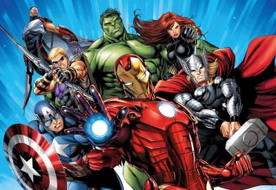 Dětská fototapeta Marvel Avengers hrdinové