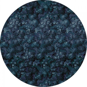 Samolepící fototapeta kruh - Mother Nature - Modrý