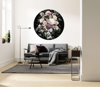 Samolepící fototapeta kruh - Mother Nature - Začarované květiny