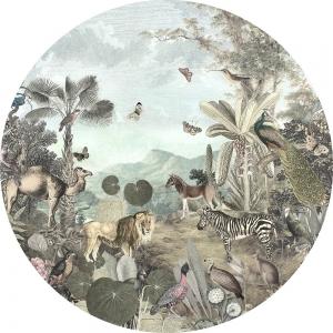 Samolepící fototapeta kruh - Mother Nature - Utopia