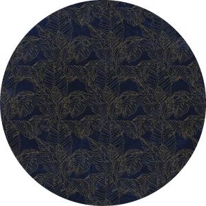 Samolepící fototapeta kruh - History of Arts - Královská modrá