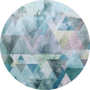 Samolepící fototapeta kruh - Bauhaus Modrý hranol