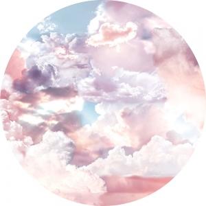 Samolepící fototapeta kruh - Bauhaus Cukrové nebe