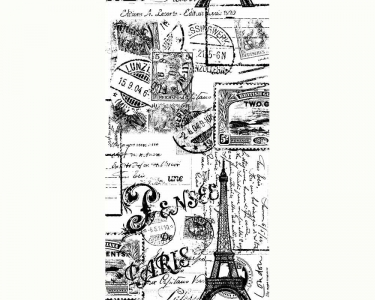Samolepící tapety Paříž černá