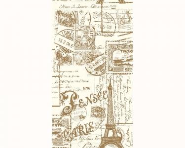 Samolepící tapety Paříž hnědá