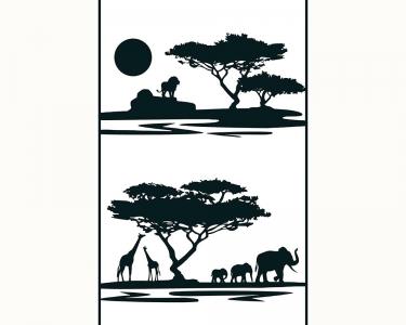Samolepící tapety Afrika černá