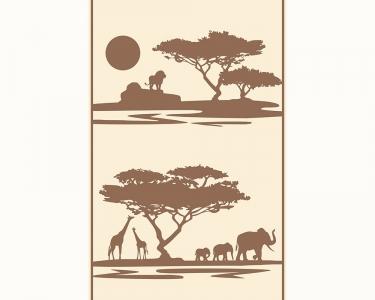 Samolepící tapety Afrika hnědá
