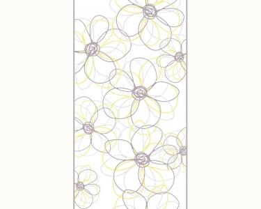 Samolepící tapety grafika květy žlutá