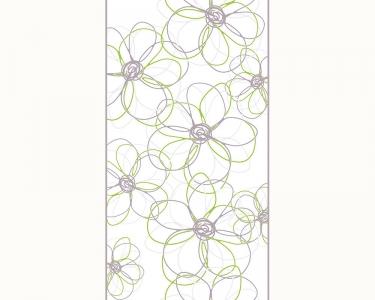 Samolepící tapety grafika květy zelená