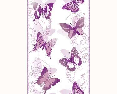 Samolepící tapety motýli fialová