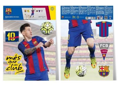 Samolepky do dětského pokoje, FC Barcelona, Lionel Messi