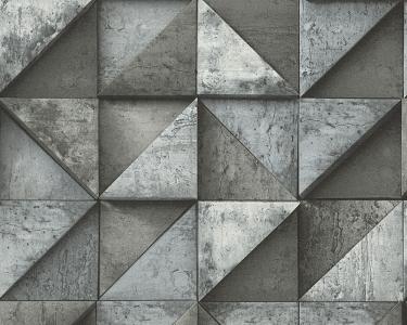 Tapety Daniel Hechter - skládaný beton černá