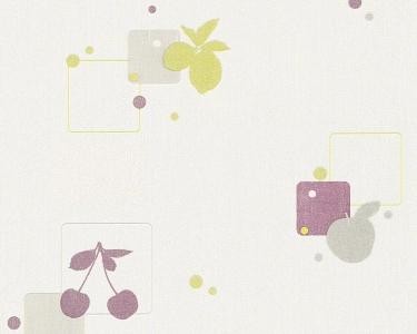 Tapety na zeď Koktejl fialová třešně