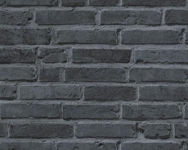 Tapety na zeď Koktejl Cihla černá