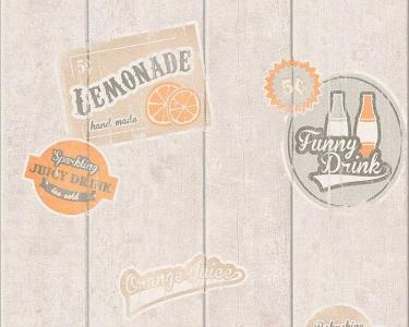 Tapety na zeď Koktejl Palubky reklama oranžová