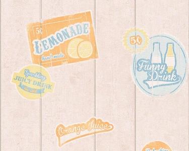 Tapety na zeď Koktejl Palubky reklama modrá