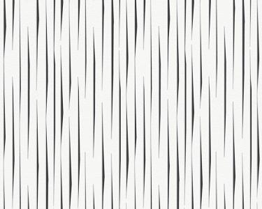 Tapety na zeď Aisslinger čáry černo bílá