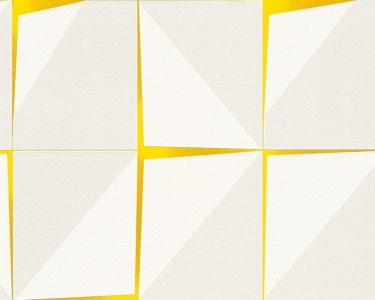 Tapety na zeď Aisslinger Kostky žlutá