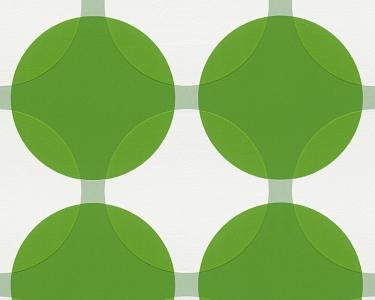 Tapety na zeď Aisslinger Kruhy zelená