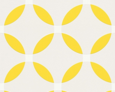 Tapety na zeď Aisslinger Kruhy žlutá