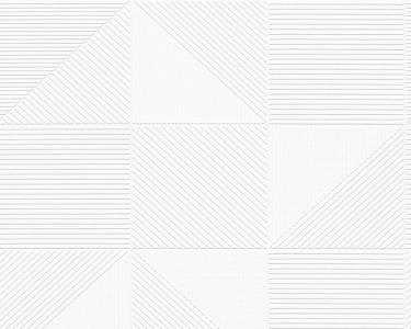 Tapety na zeď Aisslinger Geometry bílá