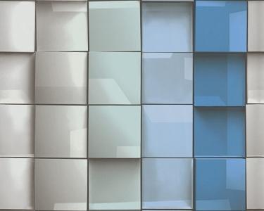 Tapety na zeď Tančící stěny 3D obklad modrá