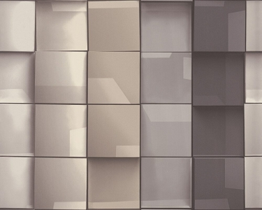 Tapety na zeď Tančící stěny 3D obklad hnědá