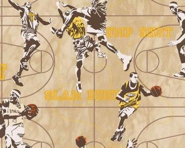 Dětské tapety pro kluky a holky Basketbal žlutá