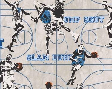 Dětské tapety pro kluky a holky Basketbal modrá