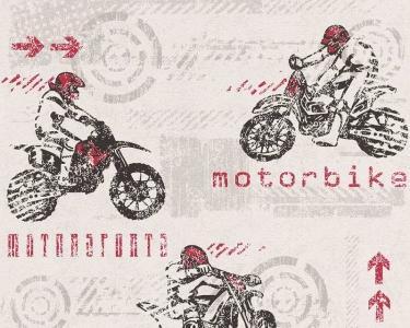 Dětské tapety pro kluky a holky Motorky červená