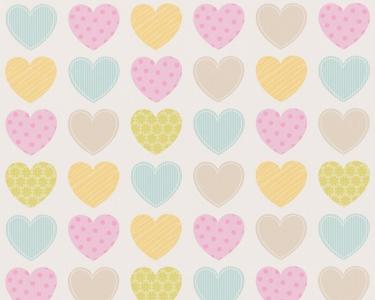 Dětské tapety pro kluky a holky Srdce zelená