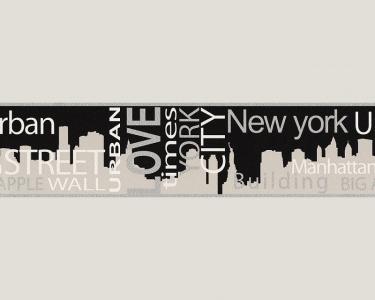 Dětské tapety pro kluky a holky NY street černá bordura