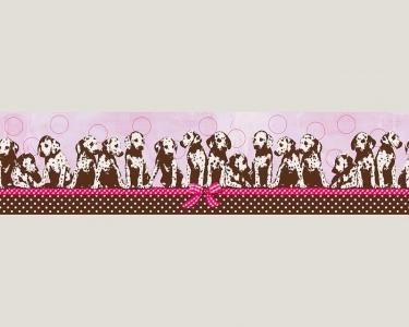 Dětské tapety pro kluky a holky Dalmatíni růžová