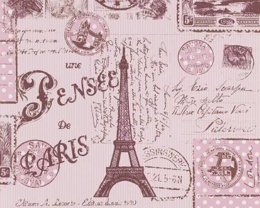 Dětské tapety pro kluky a holky Paříž růžová